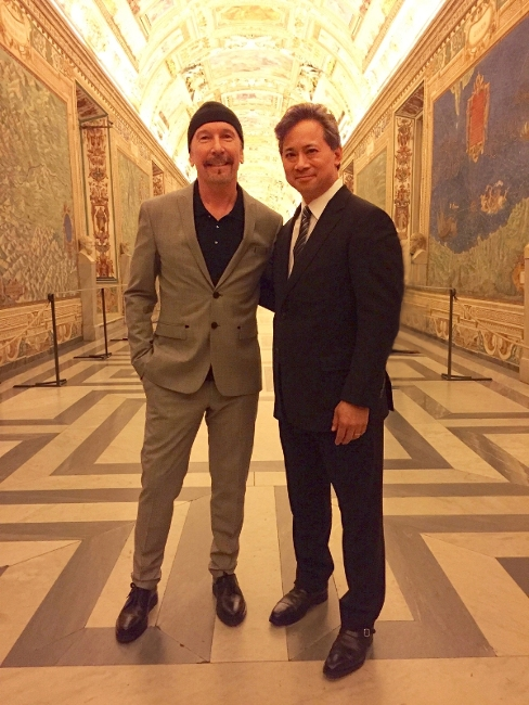 A Doctor and a Rock Star walk into the Vatican. What happens next is wonderful.